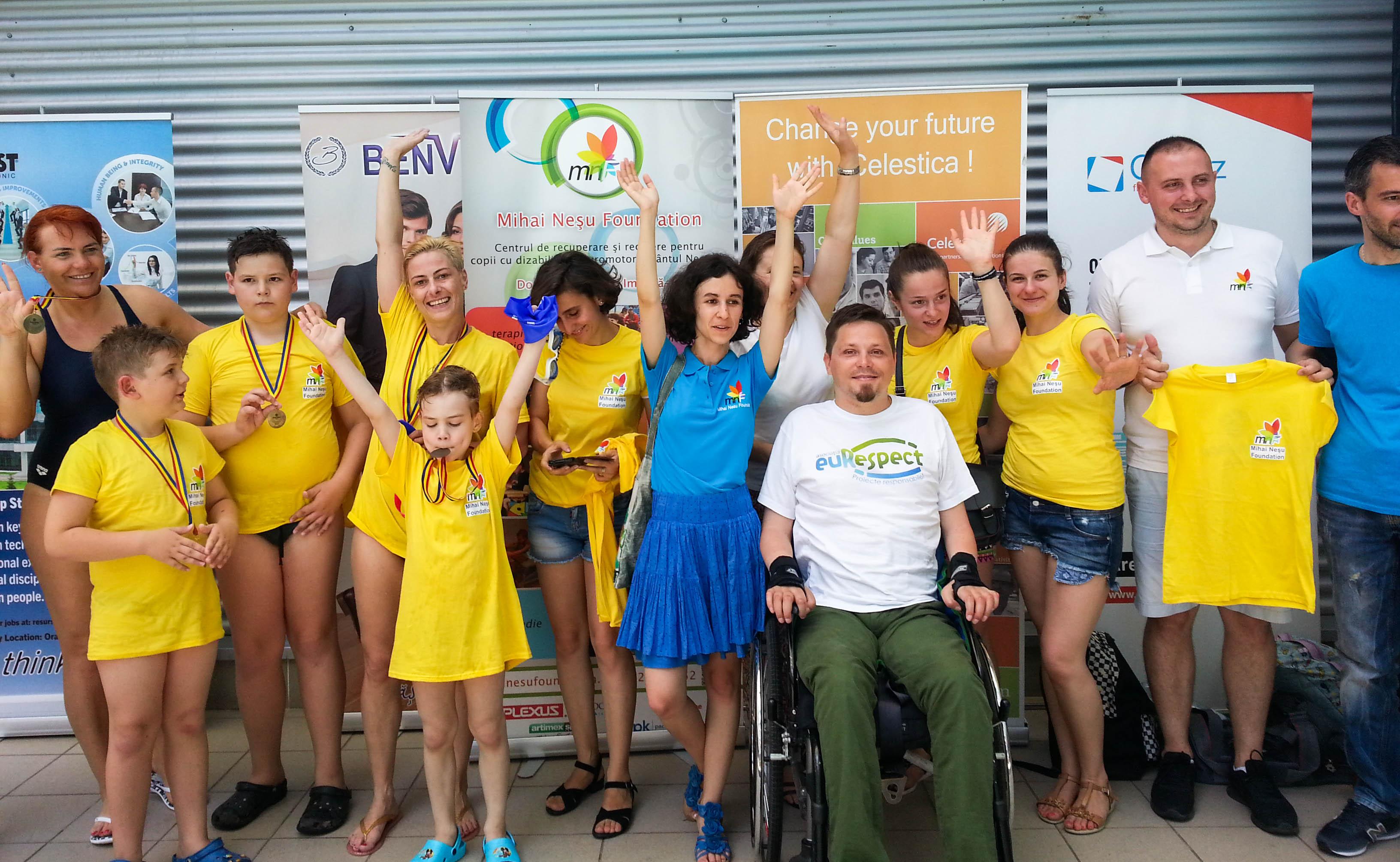 euRespect alături de Fundația Mihai Neșu la Swimathon Oradea