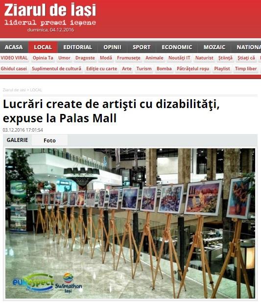 """Expoziția """"Arta, dincolo de limite"""" în presă"""