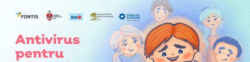Campania Antivirus pentru Educație! Copiii au nevoie și de sprijinul tău!